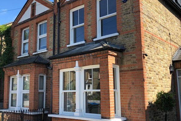 Kingston, Greater London - UPVC Sliding Sash Bay